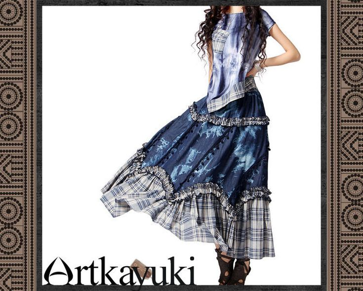 Rakuten: ★Forest girl nuance, ファションスタイル ★ Hmong batik print denim tunic (ユーズド processing, damage processing, pullover) affiliated with race- Shopping Japanese products from Japan