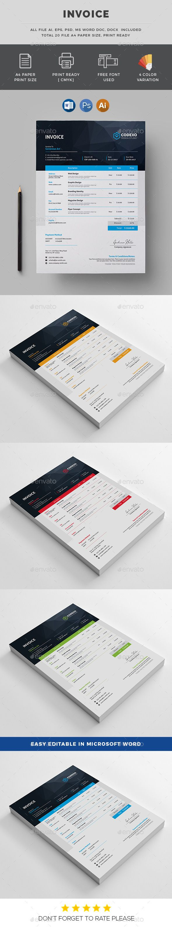 Business Letter Templates Free Download%0A Invoice  Stationery Print Templates Download here   https   graphicriver net