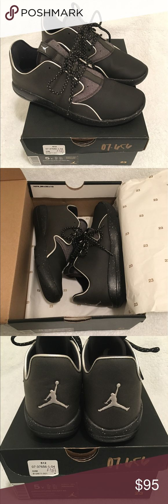 Jordan Eclipse Holiday BG Brand New Jordan Eclipse Holiday BG  Black/metallic silver Size 5Y boys  Or women's 6.5 Never worn. Still have box with paper inside. Jordan Shoes Athletic Shoes