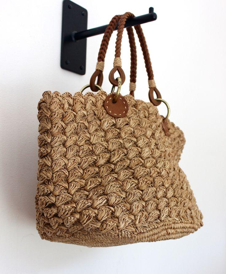 Achille straw bag by Sans Arcidet