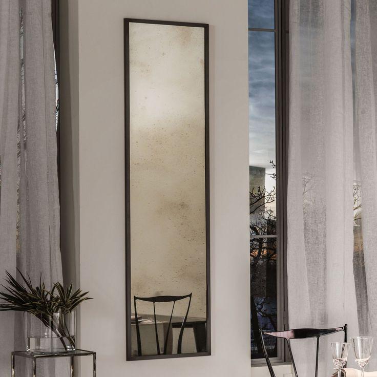 Specchio effetto anticato Aria di Cantori con cornice in metallo