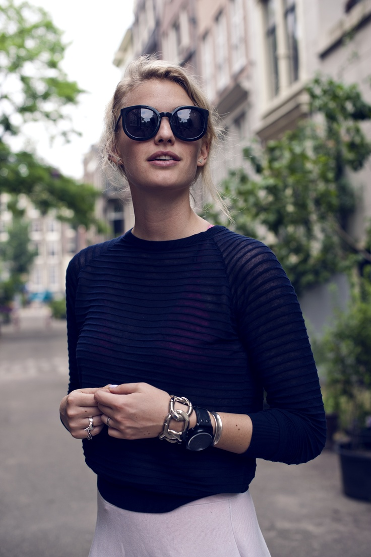shadesFashion, Parisians Chic, Cat Eye, Skirts, Style, Outfit, Navy, Karen Walker, Swings Time