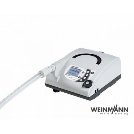 Respirator VENTIlogic Plus,  jest to aparatura stacjonarny, służy do wentylacji nieinwazyjnej, domowej jak i szpitalnej. Urządzenie jest przeznaczone dla osób dorosłych jak i dzieci. Aparat przeznaczony dla osób mający niewydolność oddechową, duszności.  Parametry oceniane, m.in.: - ciśnienie parcjalne dwutlenku węgla we krwi tętniczej (PaCO2) - natężenie objętości wydechowej (FEV) - szczytowy przepływ wydechowy (PEF) - ciśnienie parcjalne tlenu we krwi tętniczej (PaO2)