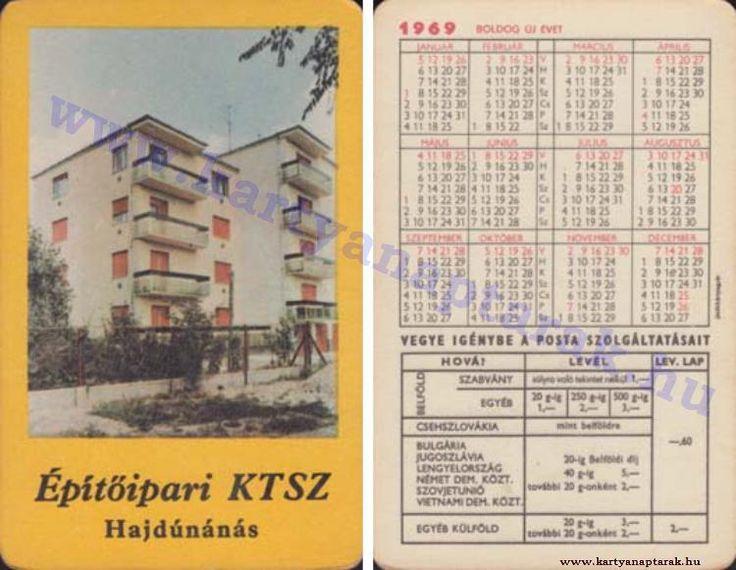 1969 - 1969_0316 - Régi magyar kártyanaptárak
