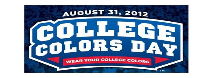 2012 College Colors Day by ESPN - August 31, 2012 - wear your college colors.2012 Colleges, Universe Wildcats, Universe Aggie, Michigan Universe, Colleges Football, States Universe, Conference, Colleges Colors, Universe Tigers