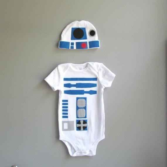 R2-D2 de La guerra de las galaxias | 36 mamelucos para los beb�s m�s geniales que conozcas