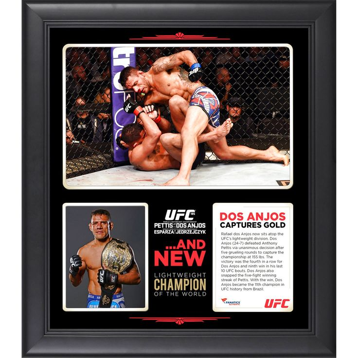 Rafael Dos Anjos Ultimate Fighting Championship Fanatics Authentic Framed 15'' x 17'' UFC 185 New Lightweight Champion Collage - $47.99