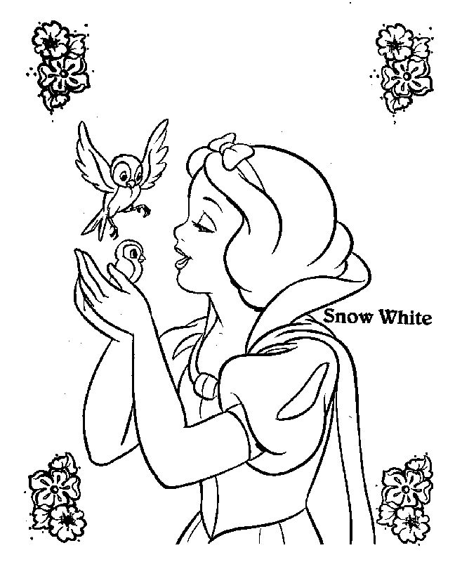 disney princess snow white coloring pages