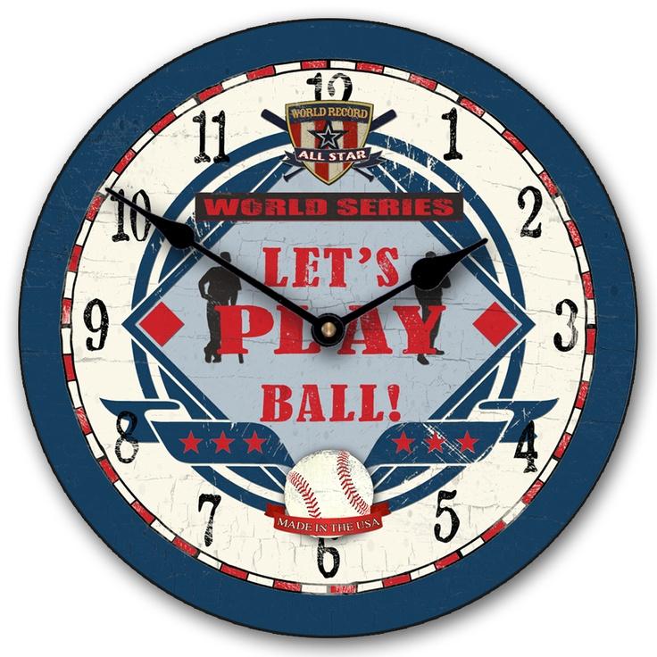 Baseball World Wall Clock By TheBigClockStore On Etsy