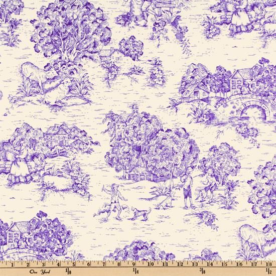 1000 images about purple toile love it on pinterest for Purple baby fabric