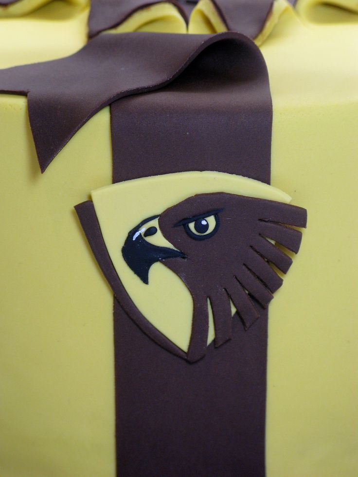 Hawthorn Hawks Gift Cake (close up detail)