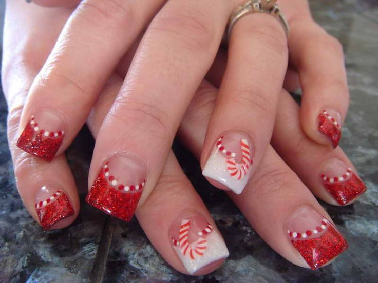 easy christmas nail designs - Google Search