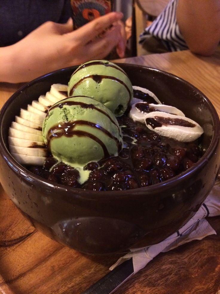 140727 달 카페 (삼청동)-(항아리)녹차빙수