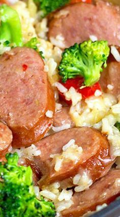 Smoked Sausage skillet dinner is a complete meal cooked in one pan. Quick, easy and totally delish.