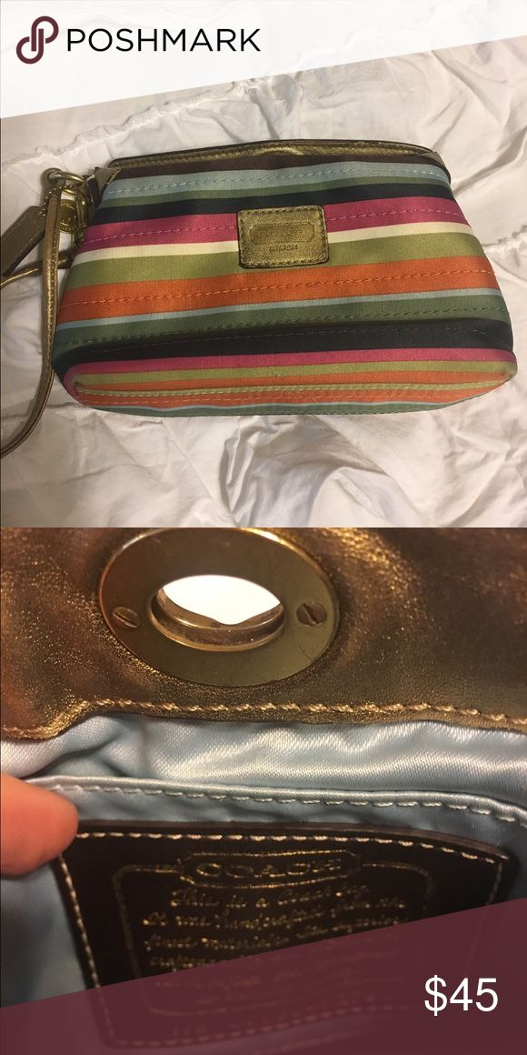 Coach Legacy Poppy Stripe small handbag Coach Legacy Poppy small handbag Coach Bags Clutches & Wristlets