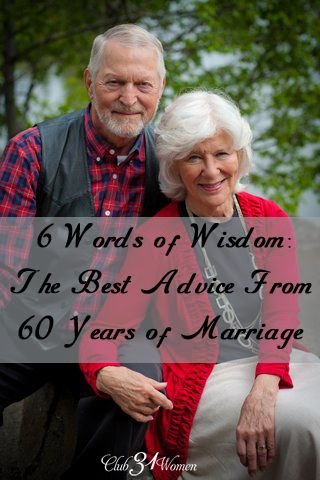 What would it be like to love, laugh, and live together for six decades? 6 Words of Wisdom: The best Advice From 60 Years of Marriage