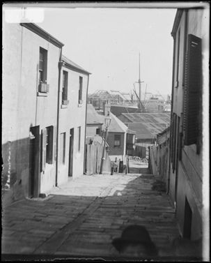 16.Ferry Lane, The Rocks, looking from Lower Fort Street to Pottinger Street and Walsh Bay| Flickr - Photo Sharing!