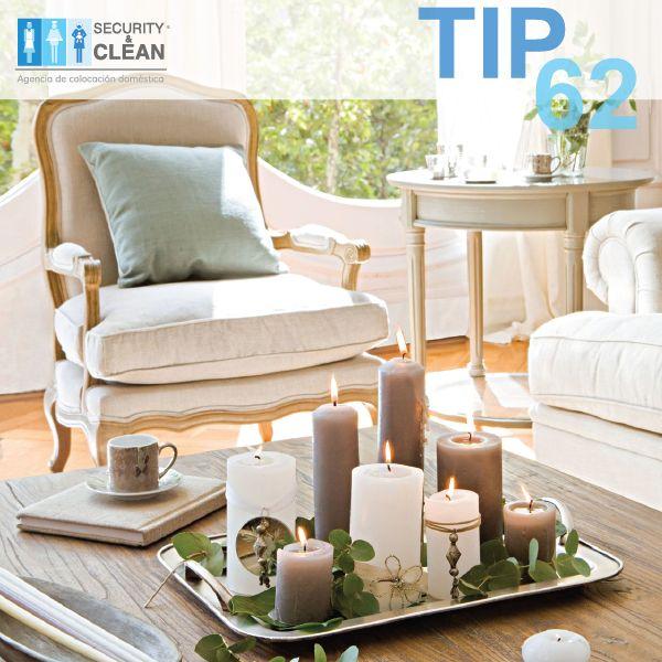 RETO DE LOS 100 TIPS PARA EL HOGAR Las velas decorativas se consumen más lento si se rodea la mecha con un poquito de sal