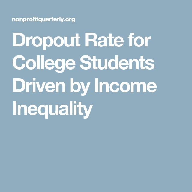 Dropout Rate for College Students Driven by Income Inequality