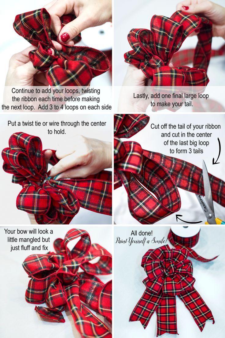 How to make a bow Christmas bows diy, Christmas tree