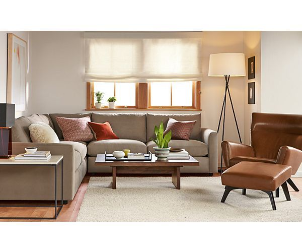 Max Sectional With Boden Leather Chair Living Room