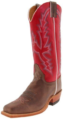 "Justin Boots Women's U.S.A. Bent Rail Collection 13"" Boot Wide Square Single Stitch Toe Leather Outsole,""America"" Burnished Chocolate/Classic Red Calf,8.5 C US Justin Boots http://www.amazon.com/dp/B004NR05K6/ref=cm_sw_r_pi_dp_O4hfub1YV74MH"