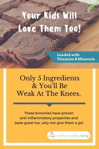 Only 5 ingredients and you'll be weak at the knees. These brownies have proven anti-inflammatory properties andtaste great too, why not give them a go