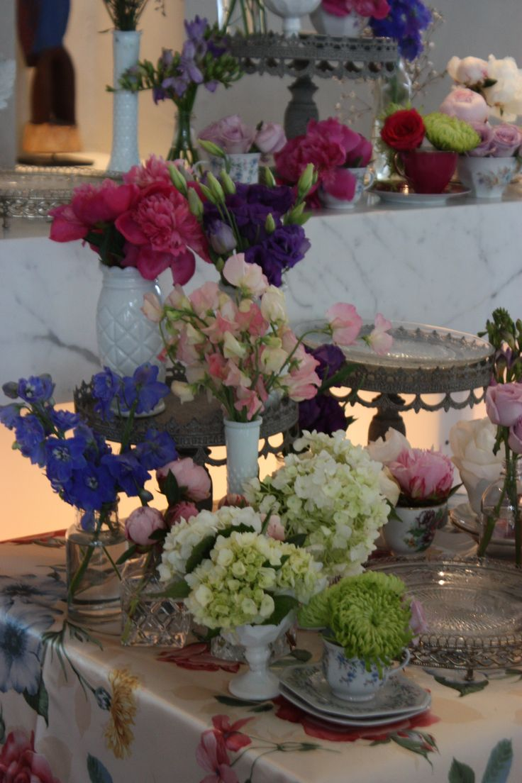 Decorit Events food station styled with spring fowers #high tea #morning tea #flowers #lisianthus #vintage centerpieces  #food station #spring #floralstyling #floral  #floraldesign #floraldecor #decoritevents #floralcenterpieces #flowerdecorations #melbourne #melbourneevents #floralcenterpiecesmelbourne  www.decorit.com.au (44)