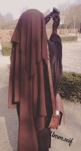 Lovely Long Brown Niqab with Jilbab and Gloves