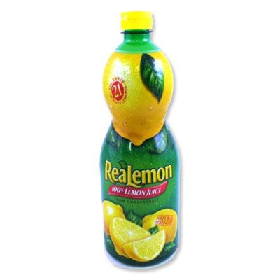 """Real Lemon 100% Lemon Juice - In the summer before I go out in the sun, I pour this lemon juice in a spray bottle and spritz it all over my hair. It helps lighten highlights and gives hair a sunkissed look. I've been doing this trick since I was a teenager!"""" ($3, at grocery stores)"""