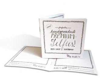 Gästebuch mit handgezeichneten, analogen Selfies, schöne Erinnerung für Hochzeit, Geburtstag, Jubiläum, als Abschiedsgeschenk-EINE DER GUTEN, Geschenkbücher, Kalender, Notizbücher
