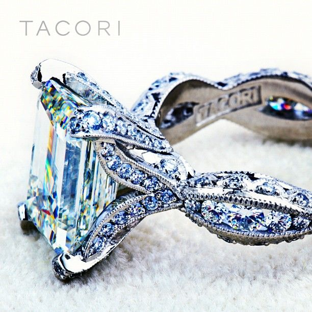 tacori; twisted band; accent diamond #engagement #ring