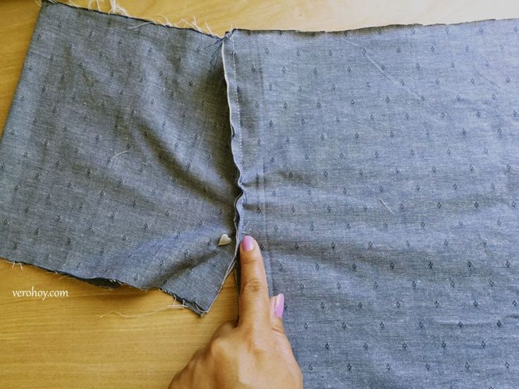 Diy como hacer una blusa con hombros descubiertos f r - Colgador de tela con bolsillos ...