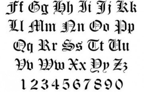 Cool Tattoos Fonts For Numbers