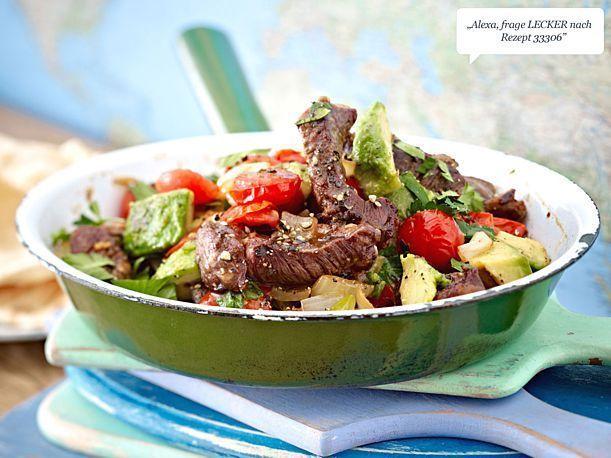 Steak-Pfanne mit Avocado  #Hautpflege-Rezepte Steak-Pfanne mit Avocado – Chris…