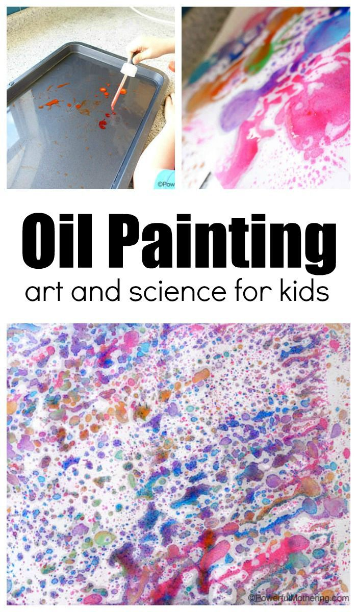 Oil Painting For Kids Collaborative Art Projects For Kids