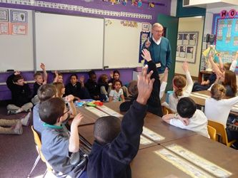 Our Parish Outreach Liaison, Ken Bresnan, went to St. Theresa School in Des Moines yesterday to talk with students about Homelessness and our St. Joesph Emergency Family Shelter.