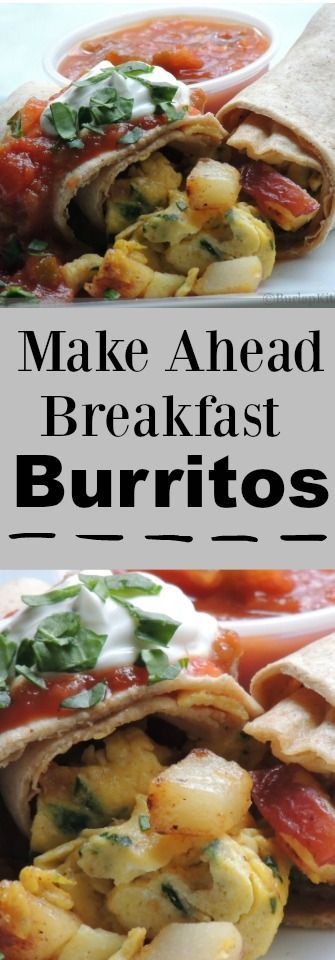 Keeping some of these easy Make ahead Breakfast Burritos ...