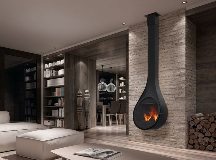 Rocal Drop Wall Mounted Multifuel Stove From Fireplace