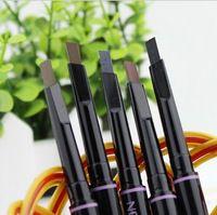 5pc lápiz de cejas maquillaje 5 pintura automática de estilo para las cejas cepillos cosméticos ojo ceja herramientas de línea ceja lápiz