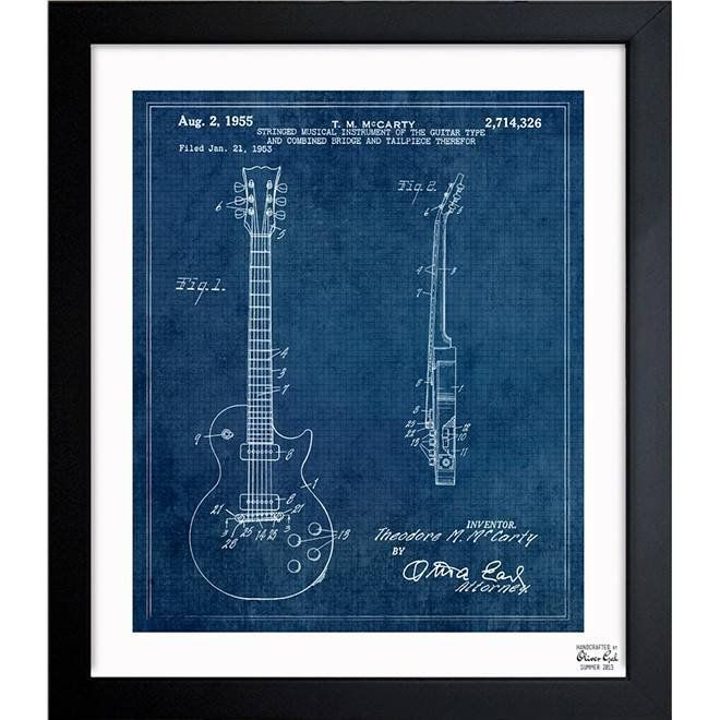 14 best historical maps images on pinterest cartography antique this exclusive blueprint of a les paul guitar was inspired by real vintage patent illustrations malvernweather Image collections