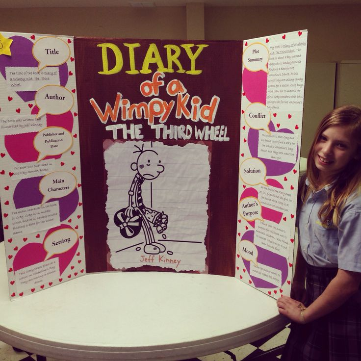 Emma's reading fair project. Diary of a Wimpy Kid: The Third Wheel