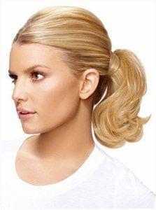 Amazon.com: Mid-length Bump up Pony Wavy Jessica Simpson Hair Extension Hairdo Dark Chocolate: Beauty