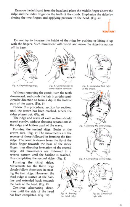 The classic 1920s look (and through to the 1930s) is not complete without the finger waved hairstyle. The method is called finger waves simply because it involves curling the hair with the use of one's fingers. This hairstyling technique does not involve heat and would only need wet hair, a comb and setting lotion.