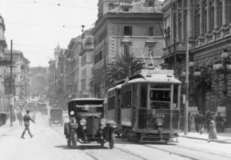 Descrizione Roma, Via Nazionale ,1925,Roma Sparita