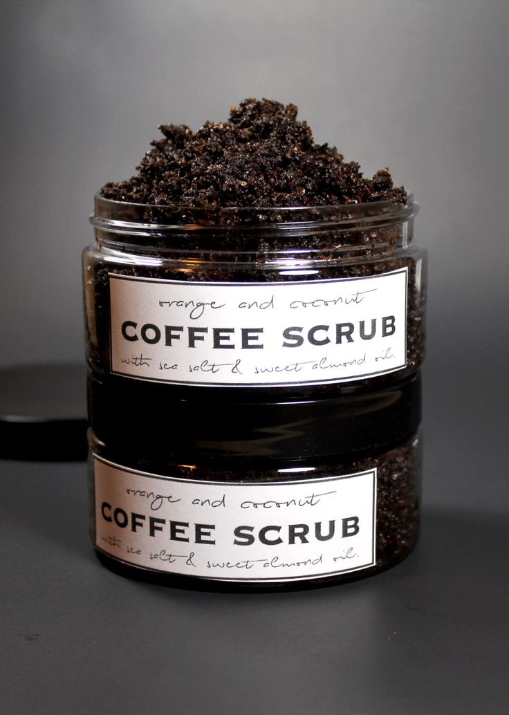 coffee grounds and coconut oil scrub
