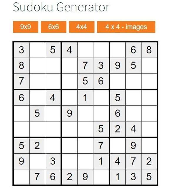 Red De Tutores Virtuales Sudoku Generator Sudoku Para Imprimir