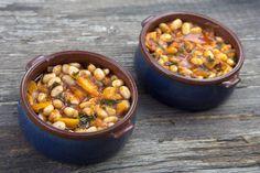 χάντρες λαδερές από caruso με καρότα και δυόσμο στο φούρνο