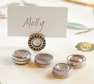 Antique Bar Place Card Holder - Traditional - Tabletop ...