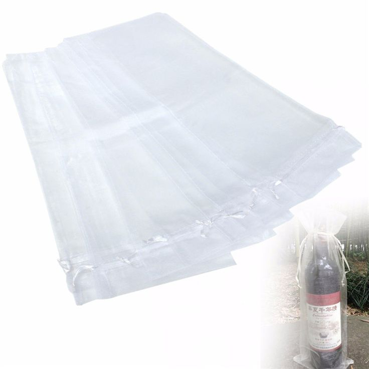 Hot Sale 10Pcs Sheer Organza Wine Bottle Gift Bags Cover For Holiday Party Wedding Favor Approx 37x15cm
